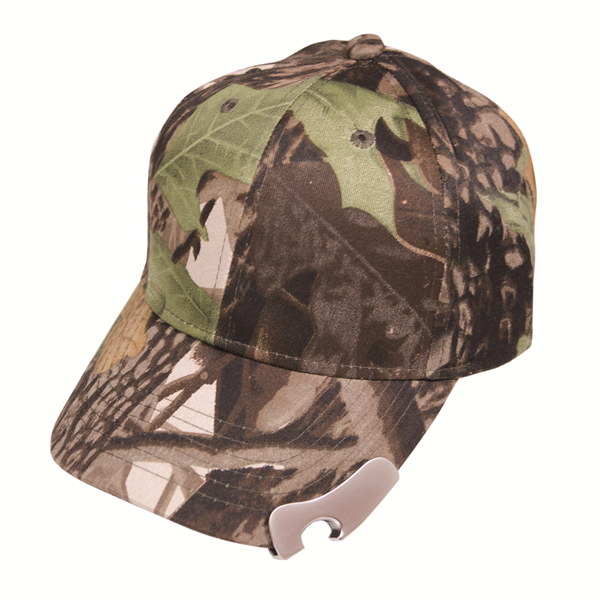LEAF CAMO CAP WITH BOTTLE OPENER