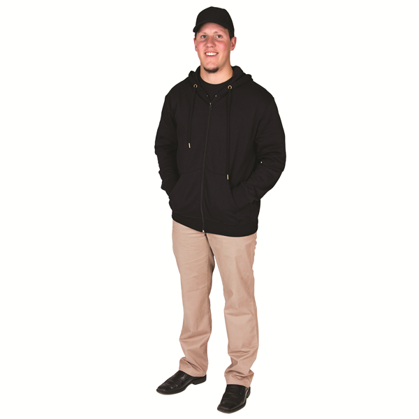 POLY-COTTON FULL ZIP HOODY