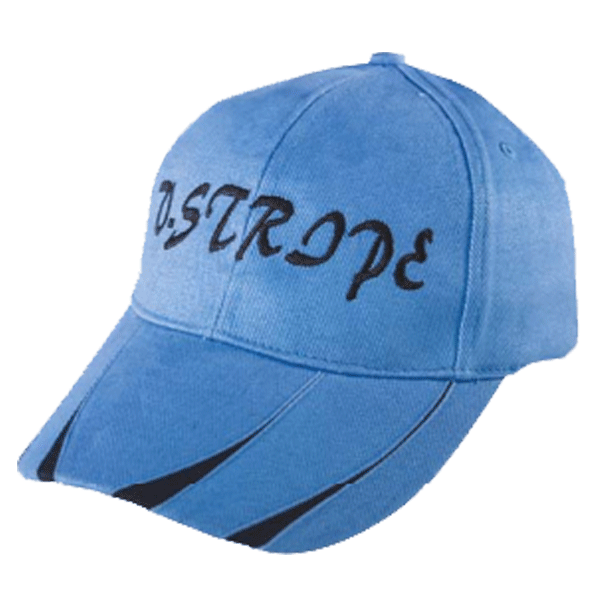 HEAVY BRUSHED COTTON CAP WITH V - STRIPE PEAK