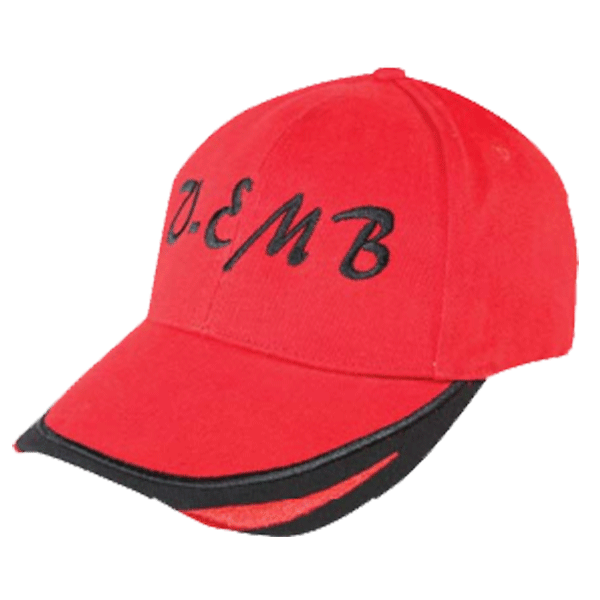HEAVY BRUSHED COTTON CAP WITH V - EMBROIDERY
