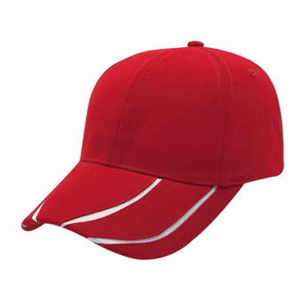 2462899e1228 HEAVY BRUSHED COTTON CAP WITH V – STRIPE PEAK (8610 RED / WHITE ...