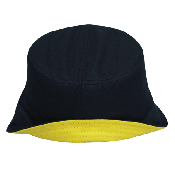 dcc403e2b215 BUCKET HAT WITH TWO TONE BRIM ( 21A02 BLACK / YELLOW) – Sino Hitec ...